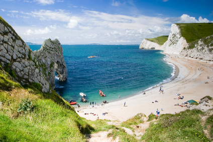 Amazing secluded beaches on the coast of Dorset England