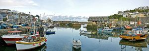 Mevagissey Harbour in England