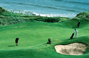 Golfing on the coast of Northern Ireland